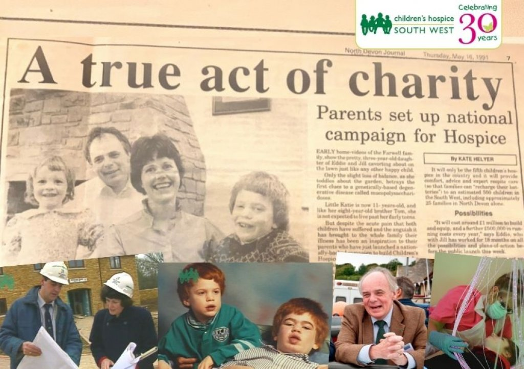 Eddie and Jill Farwell launched a £1miilion appeal to build the South West's first children's hospice in May 1991