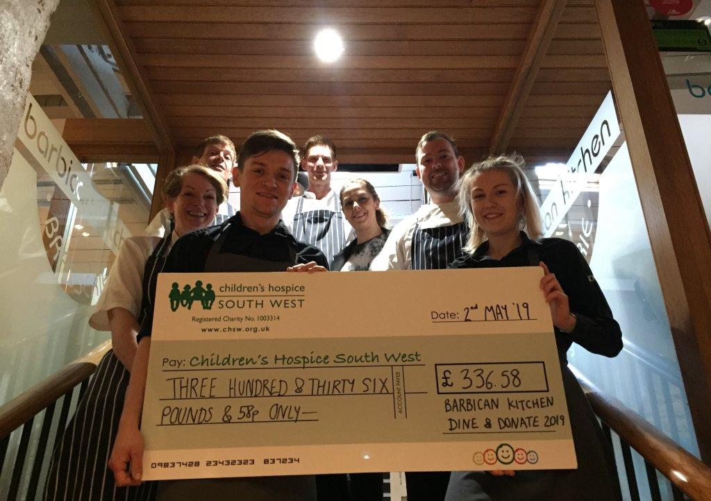 Barbican Kitchen cheque presentation