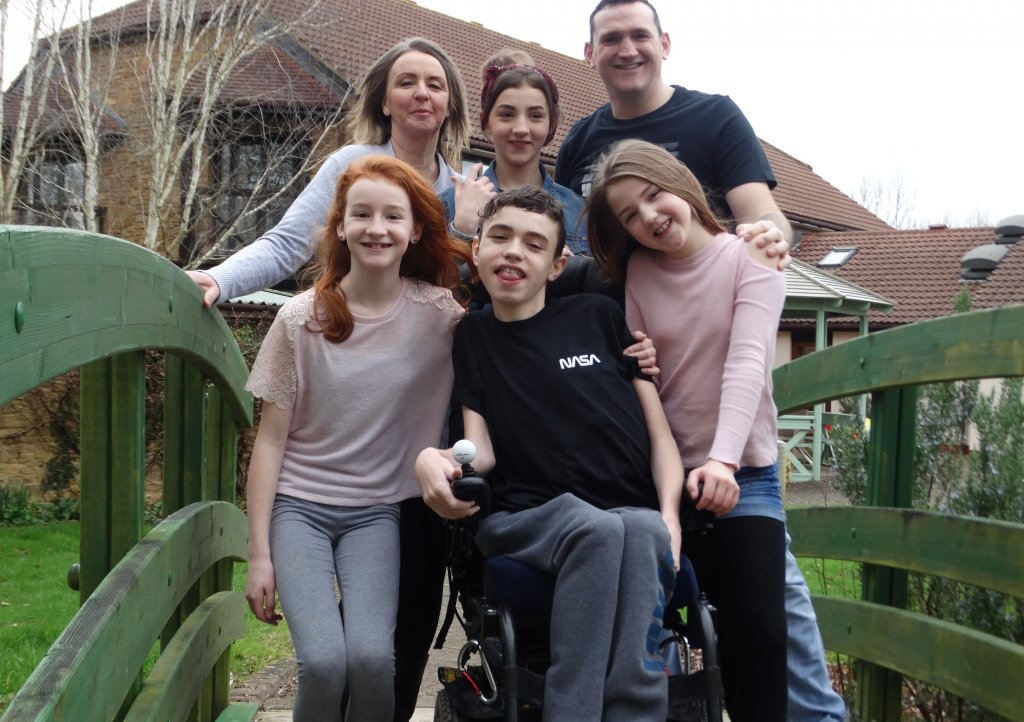 Dominic Stacey and his family have been receiving respite at Little Bridge House since 2011.