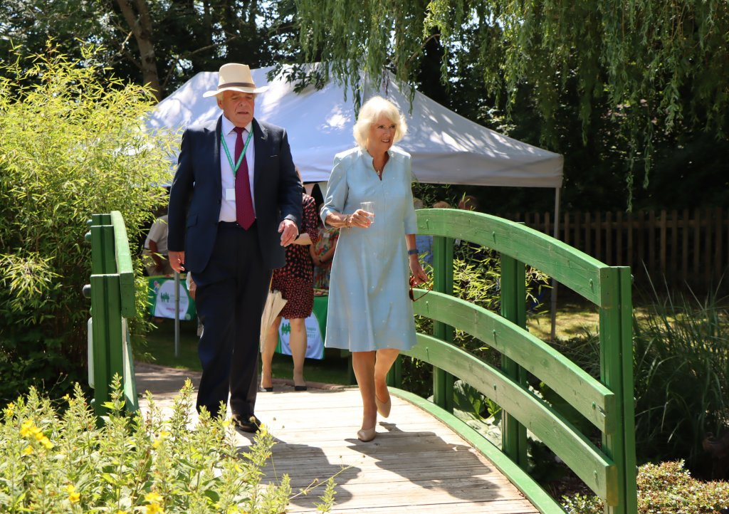 The Duchess of Cornwall is taken on a tour of Children's Hospice South West's (CHSW) Little Bridge House children's hospice by the charity's Co-founder and Chief Executive Eddie Farewell. Picture: CHSW