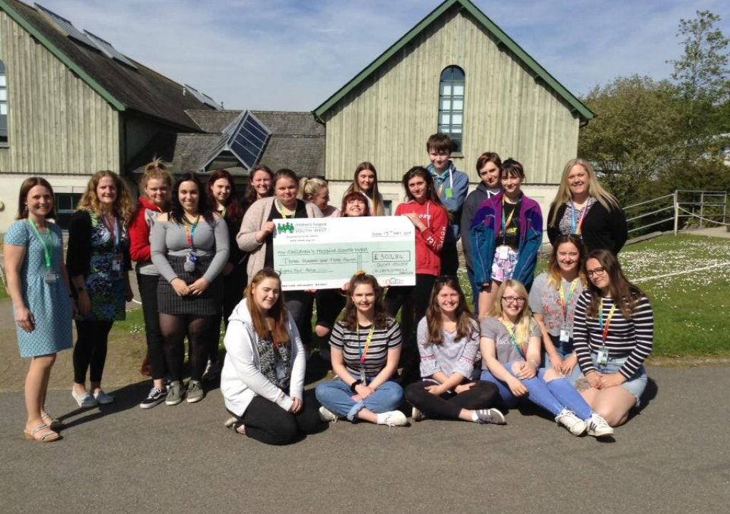 Donation from Duchy College students who completed the £20 Challenge