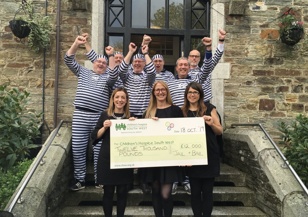 Over £12,000 raised at Jail and Bail in Bodmin