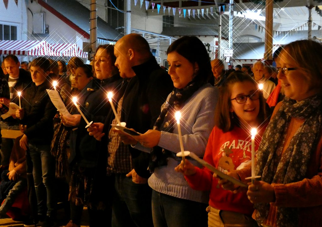The Light Up a Life service at Bideford Pannier Market. Picture by Graham Hobbs