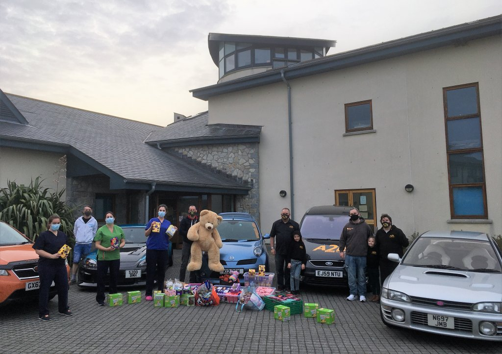 Rob Selby and friends donated Easter eggs and other gifts to Little Harbour