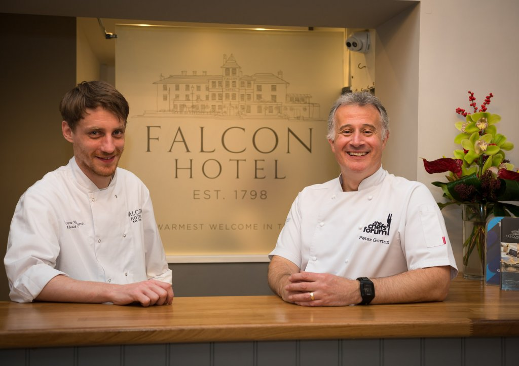 Peter Gorton and Aaron Vanstone (left) at the Falcon Hotel in Bude