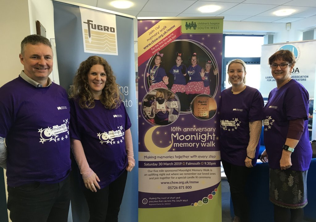 Falmouth based Fugro have signed up to be event sponsors for CHSW's Moonlight Memory Walk