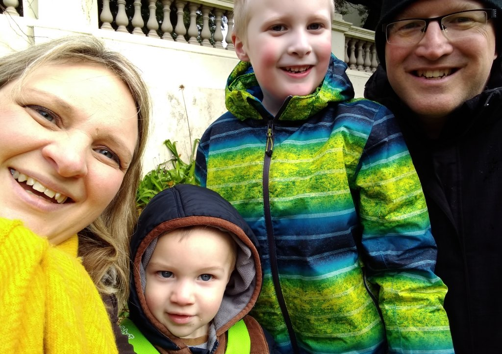 The Hele family from Plymouth inspired Leesa to organise the Virtual 10k Your Way event