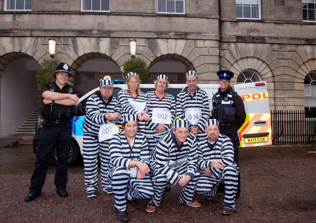 The prisoners line up outside Exeter Castle. Picture: Barnett Photo Studio