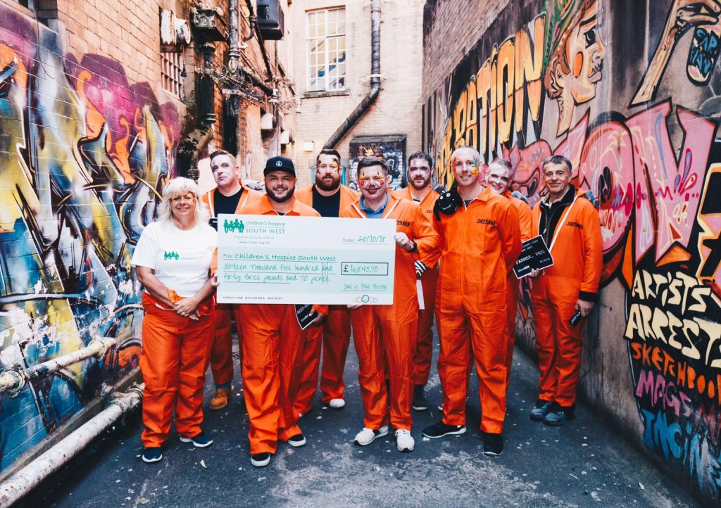 Jail and Bail raises over £16,000 for Children's Hospice South West