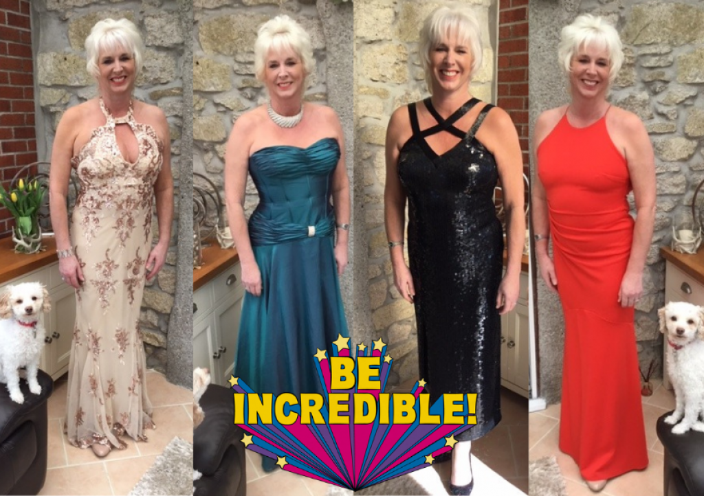Karen Lane completed 38 days cycling in different ballgowns raising funds for CHSW