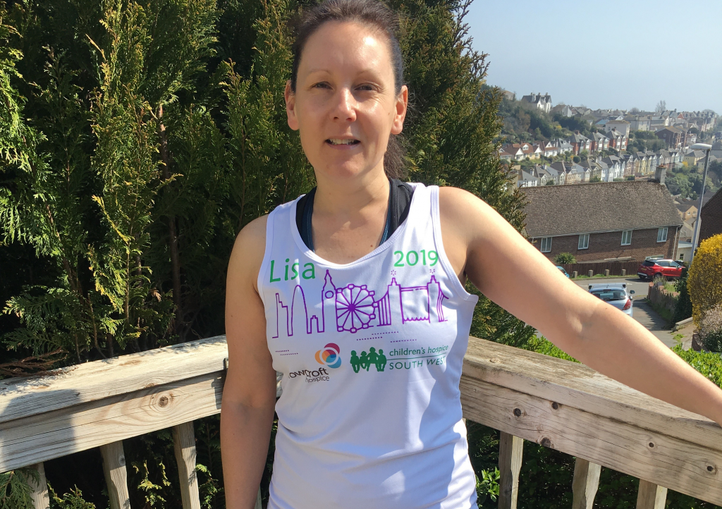 Teignmouth mum Lisa Ross is running the 2019 Virgin Money London Marathon in aid of Children's Hospice South West and Rowcroft Hospice
