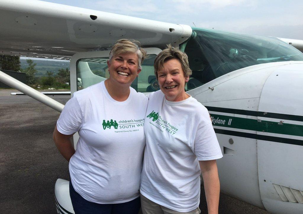 Lisa and Karen at Bodmin airfield