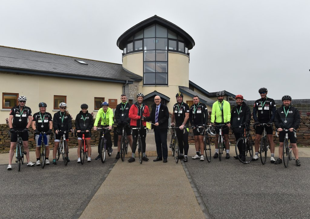 Marcus and the team finished the 5 day cycle ride when they pedalled in to Little Harbour