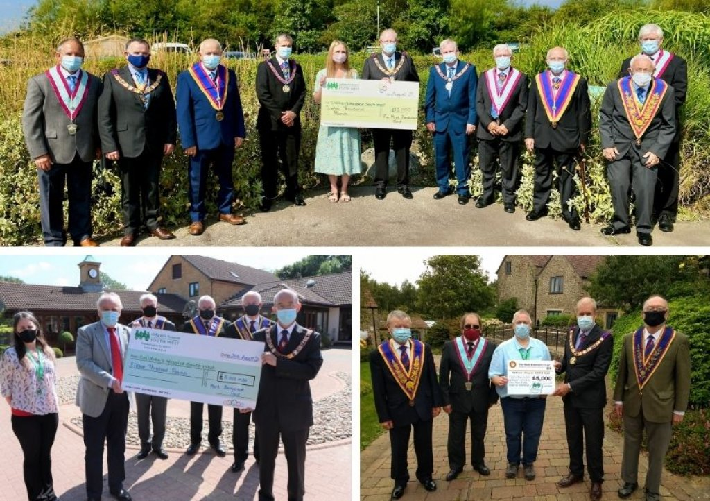 Freemasons from across the West Country have made a £29,000 donation to Children's Hospice South West