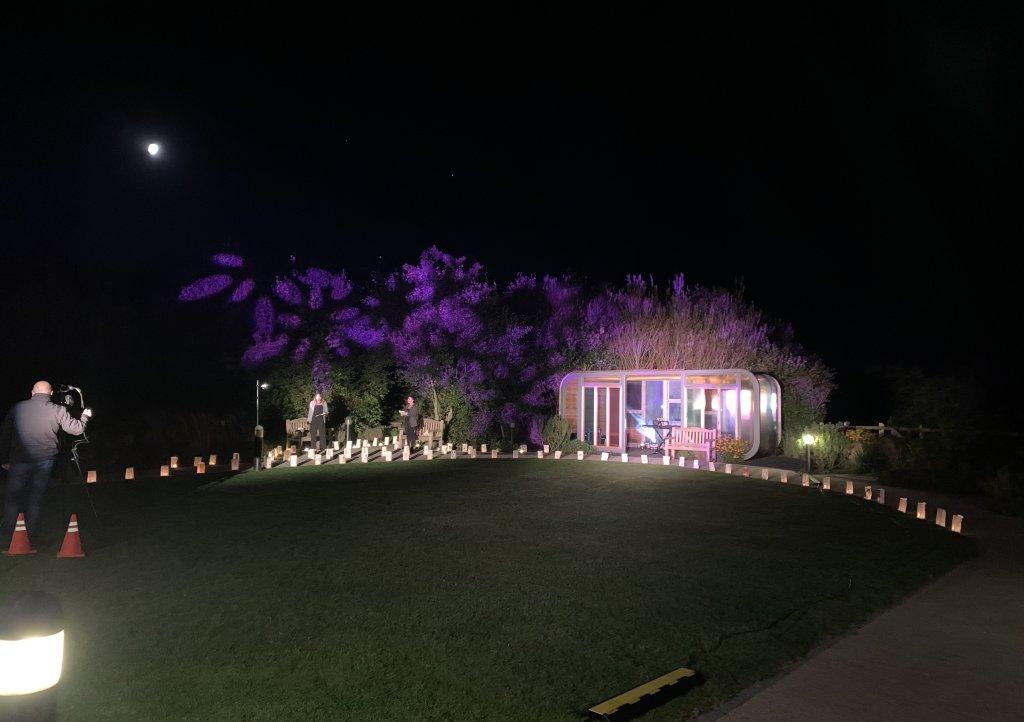 Memories by Moonlight memory ceremony filmed at Little Harbour
