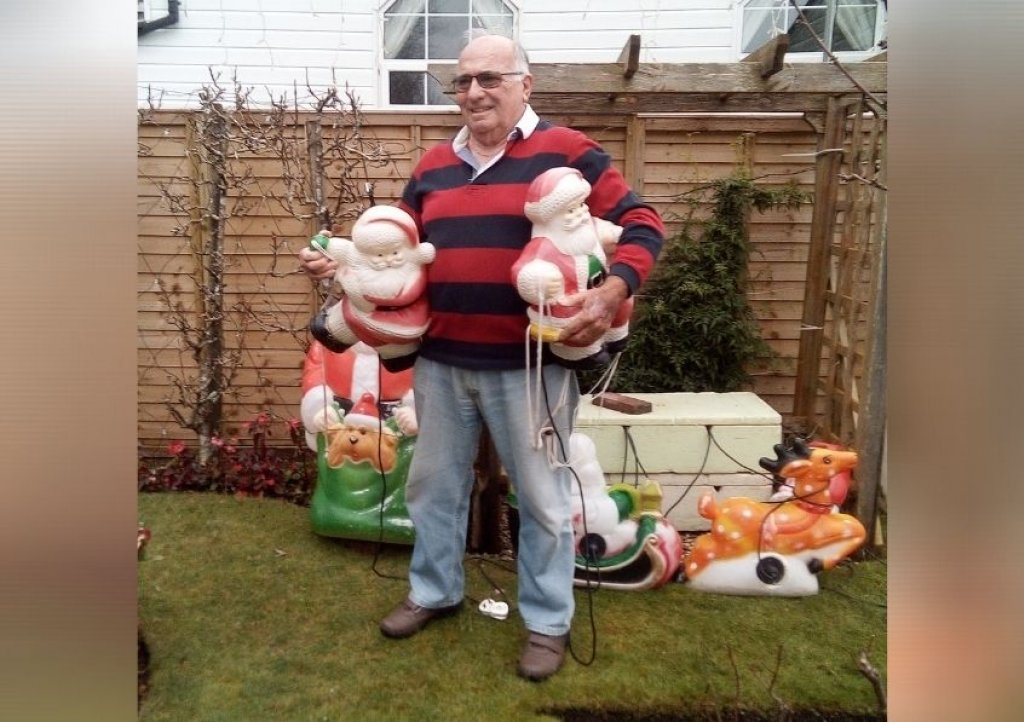 Mike Langman is busy putting up his Christmas lights in time for the big switch on at 4.30pm on December 1