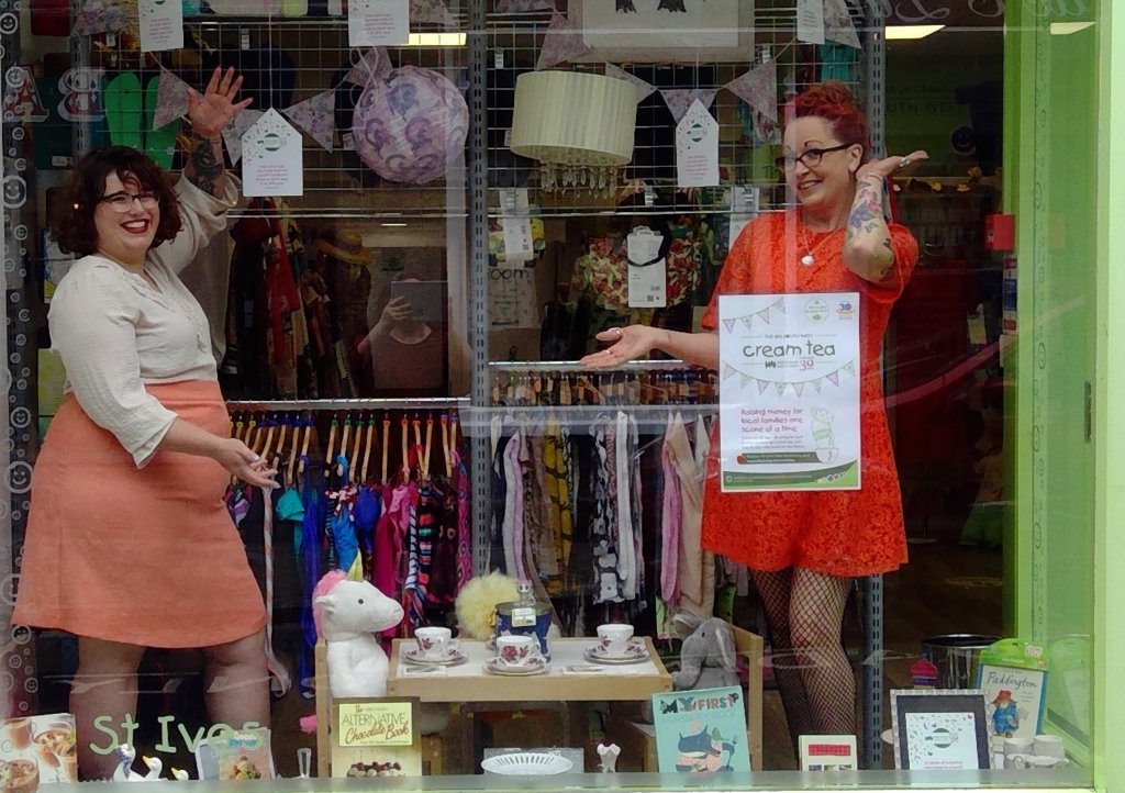 St Ives shop manager Morwenna Trezona-Foster and Jasmine Young
