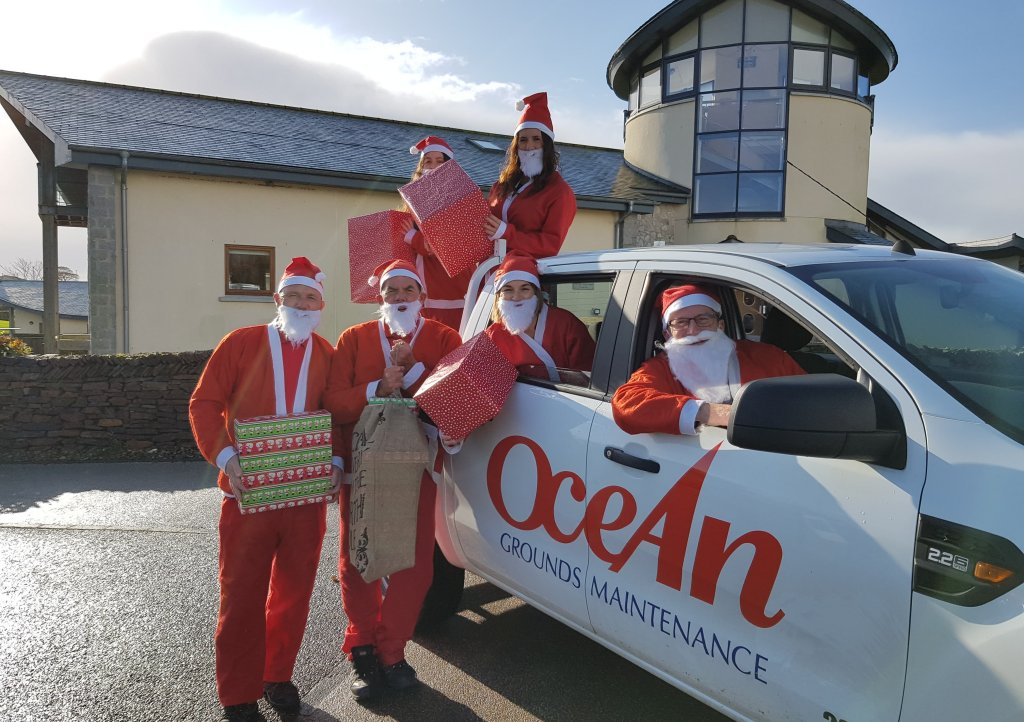 Ocean Housing Group celebrate being headline sponsor for Santas on the Run Eden