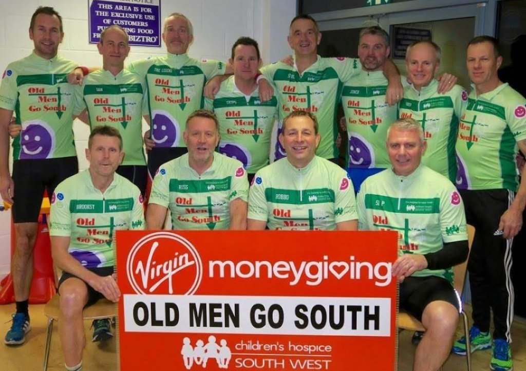 The Old Men Go South team (back from from left): Simon Doyle, Ian Yendall, Neil Glinn, Graham Davies, Michael Stevens, Mark Jones, Mark Shepherd and Guy Johnson. Front: Andy Brooks, Russ Nurcombe, Pete Robinson and Simon Penny. Not in picture: Andy Trust.