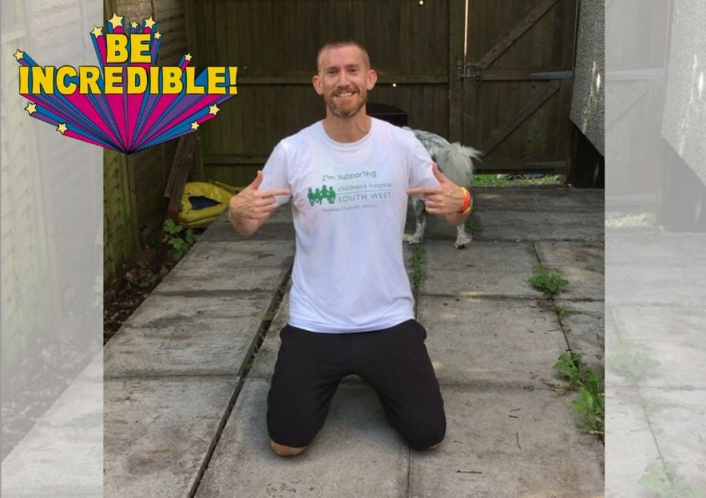 Patrick Connolly has pledged to do 20 push-ups or more a day until he raises £1,000 for Children's Hospice South West.