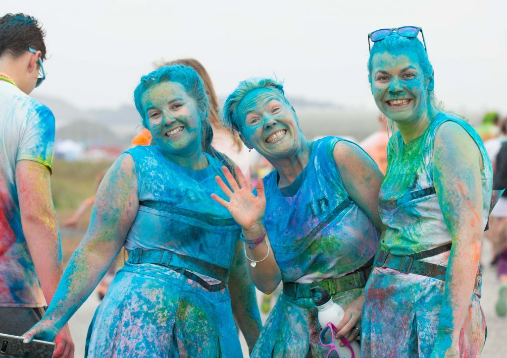 Rainbow Run Newquay blue ladies