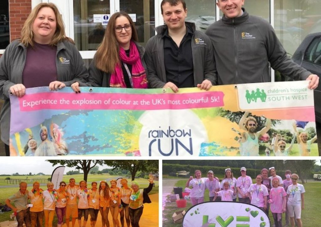 The Exeter, Thomson Reuters and Liverpool Victoria are sponsoring Children's Hospice South West's Exeter Rainbow Run 2019