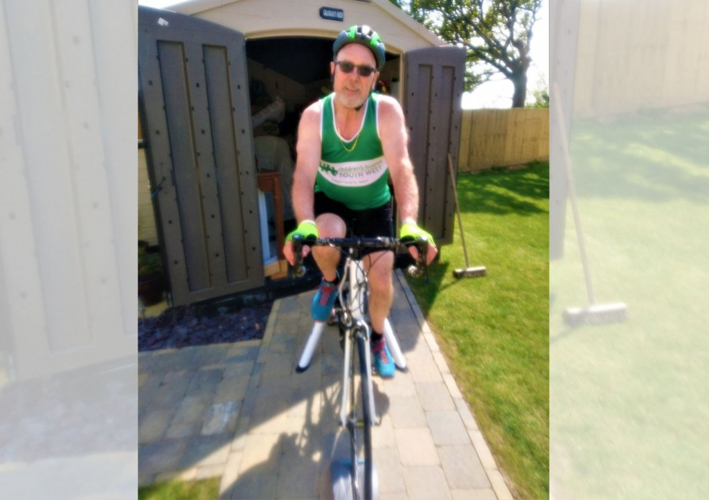 Rick Dean from Bude will cycle 205 miles in aid of Children's Hospice South West