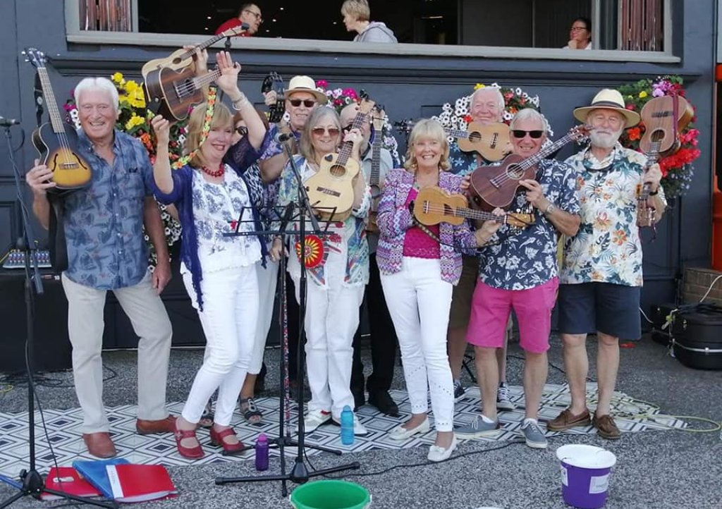 The Riviera Ukulele Band played at The Hyde Dendy Big Weekend in Paignton