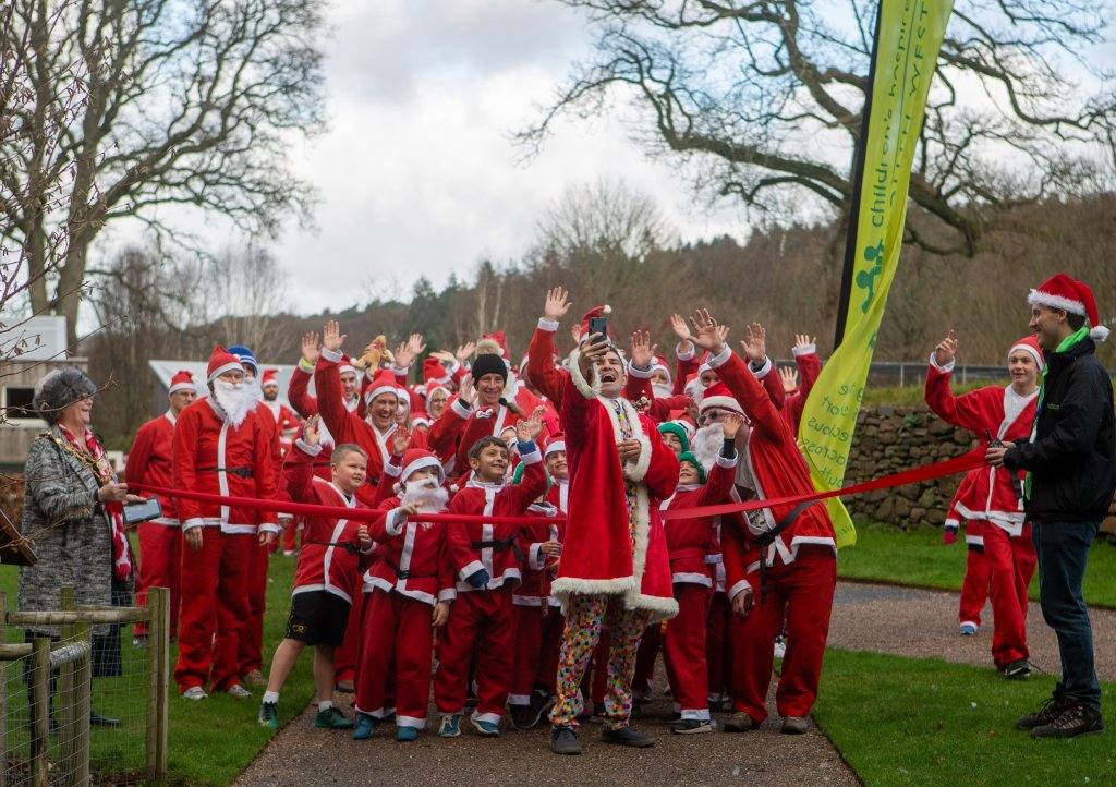 On the start line at last year's Santas on the Run event at RHS Garden Rosemoor. Picture: Tim Lamerton