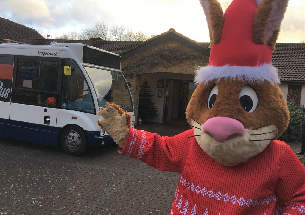 Gary the Stagecoach Rabbit at Little Bridge House