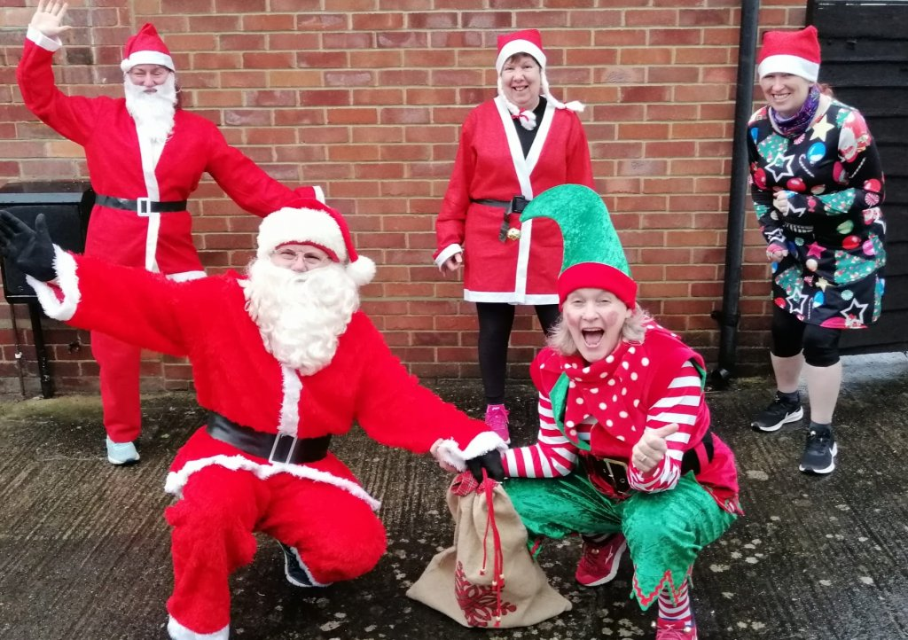 Steve Apelt and his team of Santas on the Run Freestylers