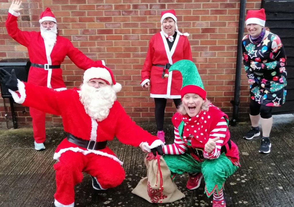 Steve Apelt and his team of Santas on the Run Freestylers