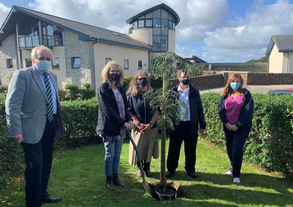 A tree was planted at Little Harbour in memory of Howard Rosevear