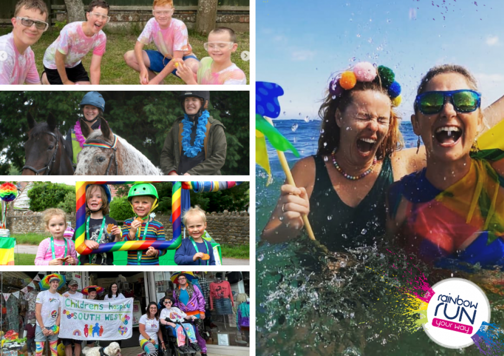 Supporters got involved in Rainbow Run Your Way in a range of creative ways