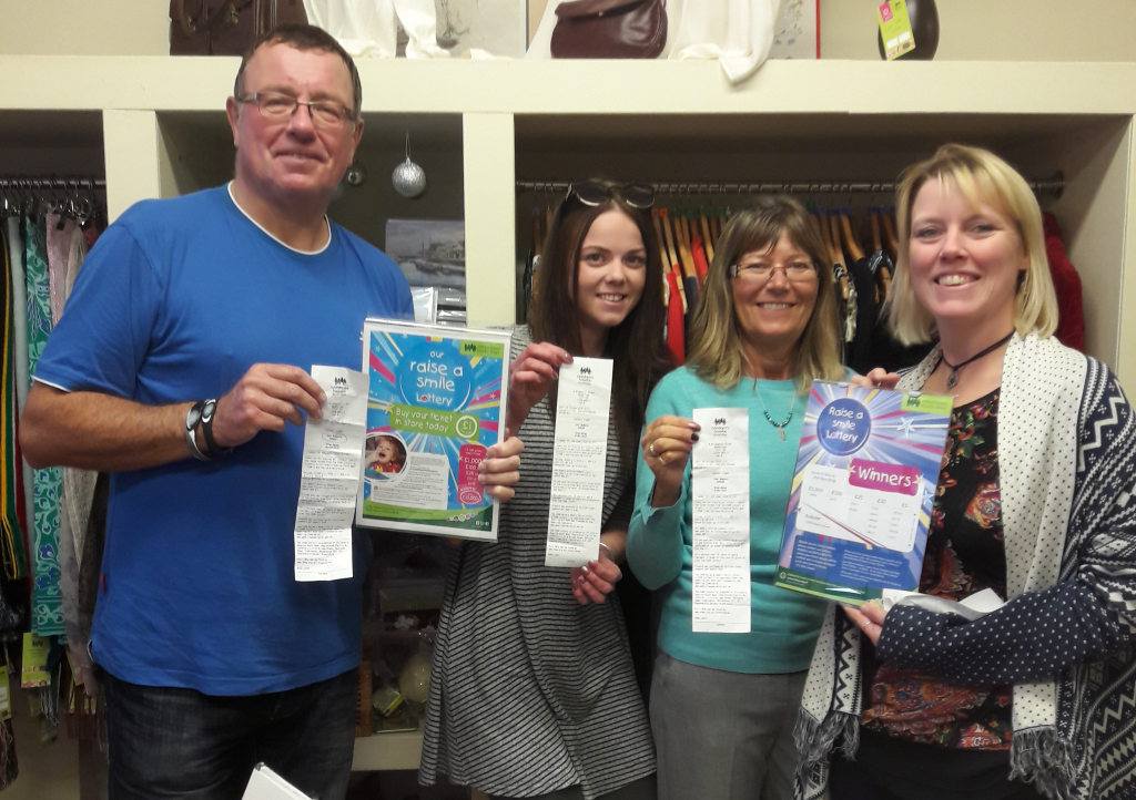 Could it be you? Wadebridge Children's Hospice South West shop manager Kirstie Madden and shop volunteers Julian Collinson, Danielle Broad and Debbie Chantler are still on the lookout for the owner of a winning lottery ticket bought in their shop.