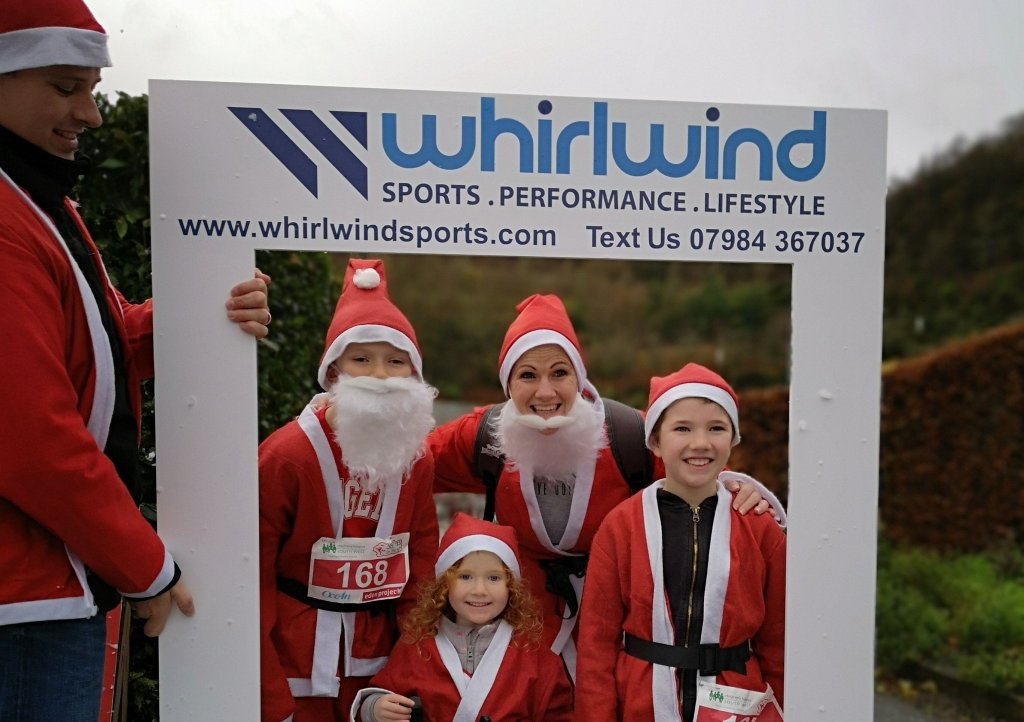 Whirlwind Sports are community partners for Santas on the Run goes freestyle