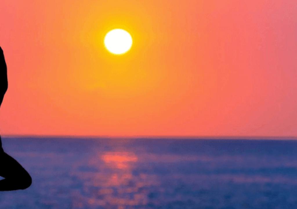 Yoga at sunrise