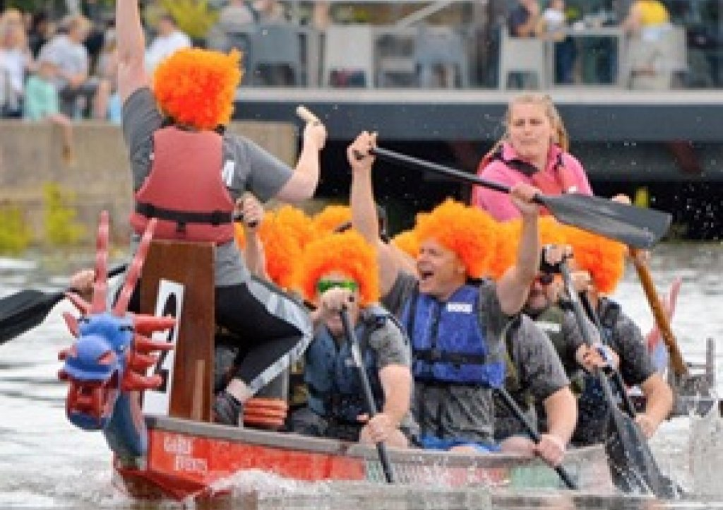 There will be dragon boat racing on The River Dart at Totnes in aid of Children's Hospice South West on Sunday, July 14 2019
