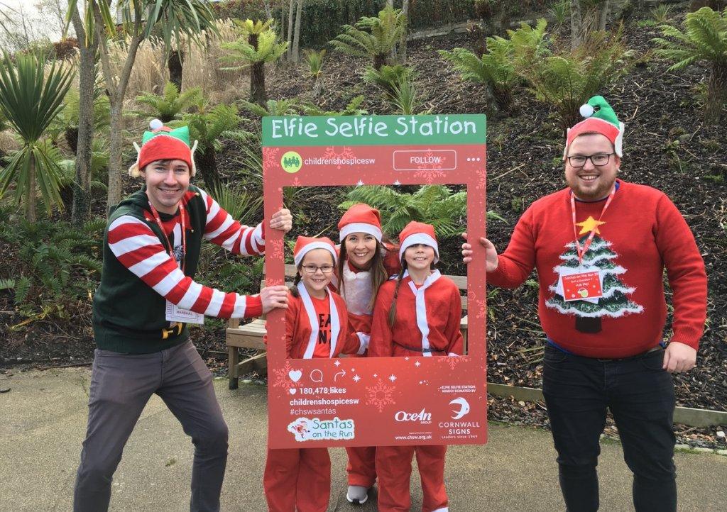 Big Box Advertising will be sponsoring the Elfie Selfie station at Santas on the Run