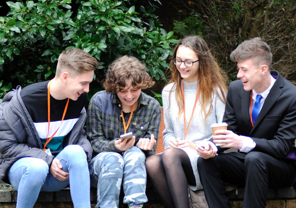 Students from City College in Plymouth which will be supporting CHSW