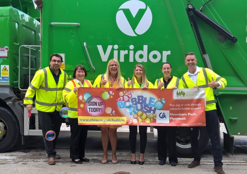 Viridor have come on board as Bubble station sponsors for Bubble Rush Plymouth