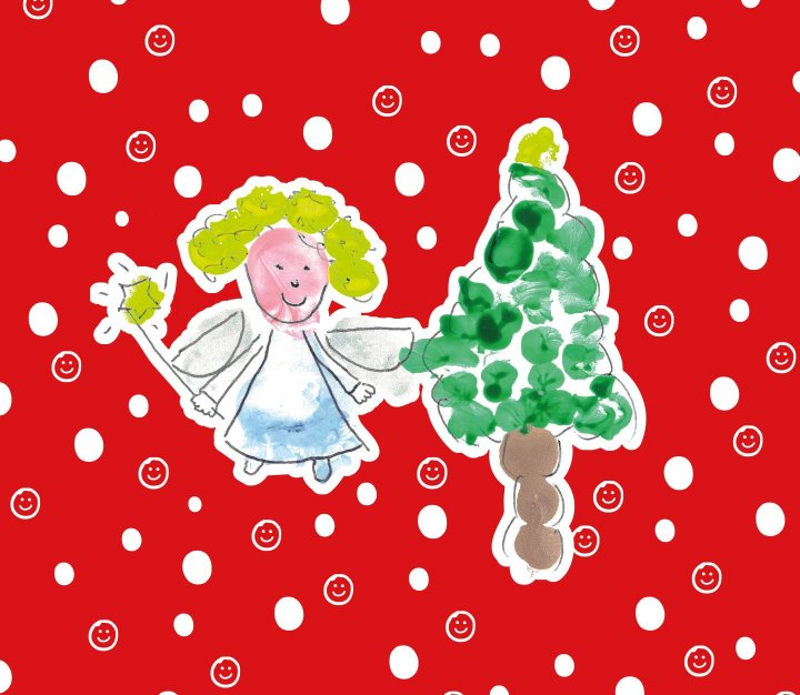 CHSW messy play angel and Christmas tree