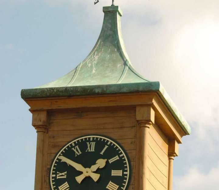 Little Bridge House clock tower