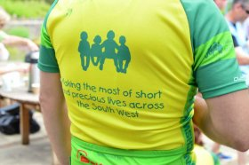 Ride for Precious Lives - cyclist wearing jersey