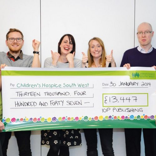 CHSW cheque presentation with IOP